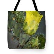 Yellow Prickly Pear Cactus Bloom Tote Bag