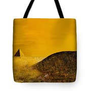 Yellow Pyramid Tote Bag