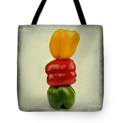 Yellow Red And Green Bell Pepper Tote Bag