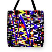 Yellow Red Blue Black And White Abstract Tote Bag