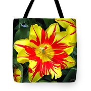 Yellow Red Flower Tote Bag
