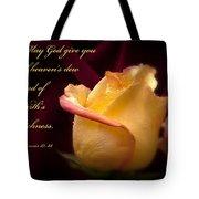 Yellow-red Rose-p045 Tote Bag
