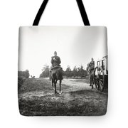 Yellow Riders On Horseback Near Arnhem Tote Bag