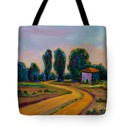 Yellow Road Tote Bag