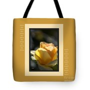 Yellow Rose Bud Dreams With Design Tote Bag