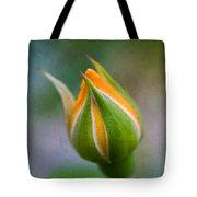 Yellow Rose Bud - Rose Bud Tote Bag