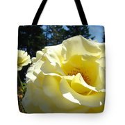 Yellow Rose Garden Landscape 3 Roses Art Prints Baslee Troutman Tote Bag