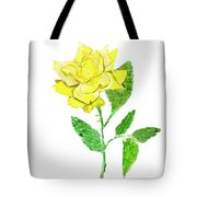 Yellow Rose, Painting Tote Bag