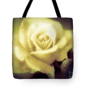 Yellow Rose Smoky Misty Look Tote Bag