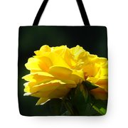 Yellow Rose Sunlit Rose Garden Landscape Art Baslee Troutman  Tote Bag