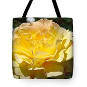 Yellow Rose Sunlit Summer Roses Flowers Art Prints Baslee Troutman Tote Bag