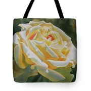 Yellow Rose With Bud Tote Bag