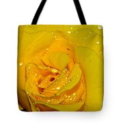 Yellow Rose With Droplets By Kaye Menner Tote Bag