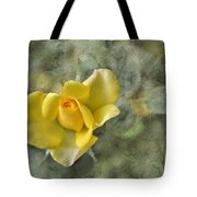 Yellow Rose With Old Marbel Texture Background Tote Bag