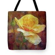 Yellow Rose With Raindrops 3590 Idp_2 Tote Bag