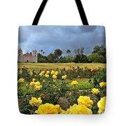 Yellow Roses And Dark Sky Tote Bag