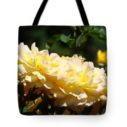 Yellow Roses Sunlit Rose Flowers 1 Rose Garden Giclee Artwork Baslee Troutman Tote Bag