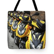 Yellow Scooters Tote Bag