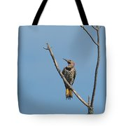 Yellow Shafted Flicker Front Tote Bag