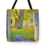 Yellow Shaker House Gate Tote Bag