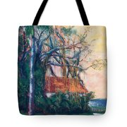 Yellow Sky At Edison Winter Estate Tote Bag
