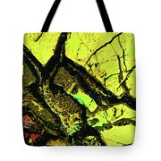 Yellow Sky With Dead Cedar Tote Bag