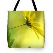 Yellow Spring Daisy Abstract By Kaye Menner Tote Bag