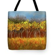 Yellow Stand Of Trees Tote Bag