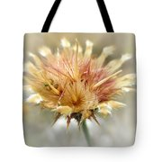 Yellow Star Thistle Tote Bag by Valerie Anne Kelly