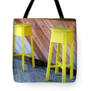 Yellow Stools Tote Bag