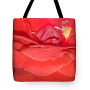 Yellow-striped Red Rose Tote Bag