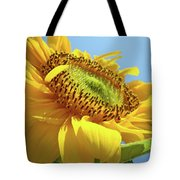 Yellow Sunflower Blue Sky Art Prints Baslee Troutman Tote Bag