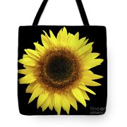 Yellow Sunflower Isolated On Black Background 8 Tote Bag
