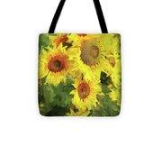Yellow Sunflowers Tote Bag