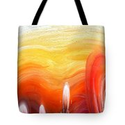 Yellow Sunlight Abstract Art Tote Bag