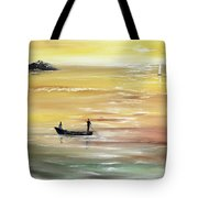 Yellow Sunset Tote Bag