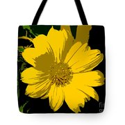 Yellow Sunshine Work Number 8 Tote Bag