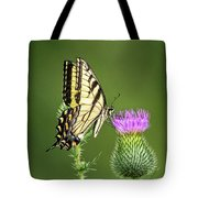 Yellow Swallow Tail Tote Bag