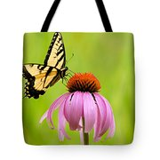 Yellow Swallowtail On Cone Flower Tote Bag
