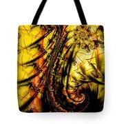 Yellow Symbol Design Tote Bag
