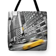 Yellow Taxi Nyc Tote Bag