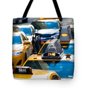 Yellow Taxis Tote Bag