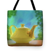 Yellow Teapot And Bowl Tote Bag