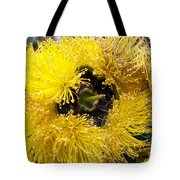 Yellow Tree Flower Tote Bag