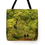 Yellow Trees In Fall Tote Bag