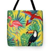 Yellow Tropic  Tote Bag by Mark Ashkenazi