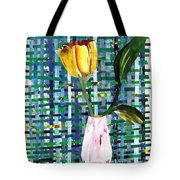 Yellow Tulip In A Pink Vase Tote Bag