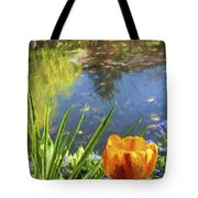 Yellow Tulip In Giverny  Tote Bag