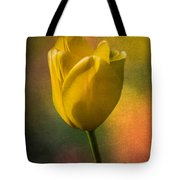 Yellow Tulip Textures Of Spring Tote Bag