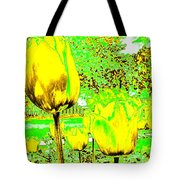 Yellow Tulips Abstract Tote Bag